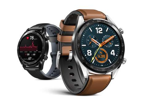 Real-Time Feedback Smartwatches - The Huawei Watch GT Features the Brand's Lite OS