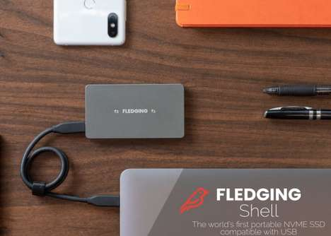 Speedy Compatibility SSDs - The 'Fledging Shell' Portable SSD is 10-Times Faster Than External HDDs