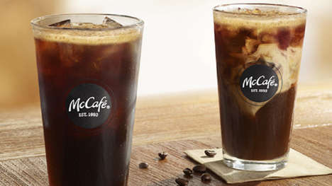 Cold Brew QSR Coffees - The McCafé Cold Brew Coffee is Made with 100% Arabica Coffee Beans