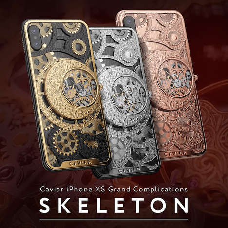 Intricately Luxurious iPhone Cases - Caviar's iPhone Case Features a Beautiful Watch Construction