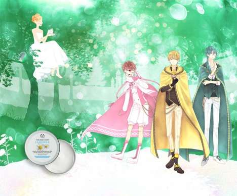 Anime-Inspired Skincare Campaigns - The Body Shop Anthropomorphized Its Sumptuous Cleansing Butter
