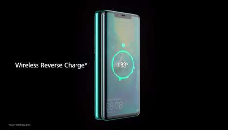 Reverse Charging Phones - Huawei's Mate 20 Pro Has The Ability to Wirelessly Charge Other Phones