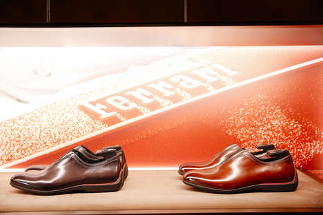 Sleek Automotive Footwear - Berluti and Ferrari Co-Created a Limited-Edition Shoe Collection