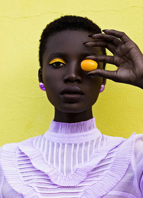 Color-Rich Fashion Photography - Elena Iv-Skaya's Colorful Fashion Photographs Adorn Lucy's Magazine