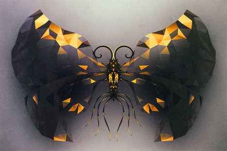 Intricate Digital Butterfly Spiecies