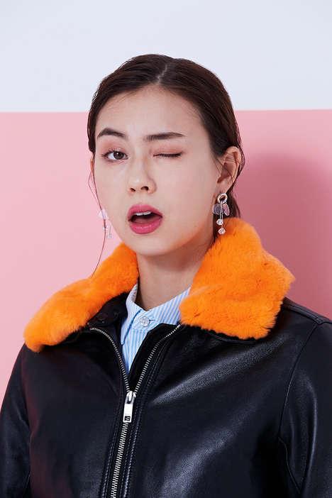 Artist-Headed Chic Fashion Editorials