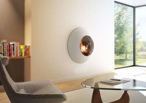 Rounded Wall Hub Fireplaces