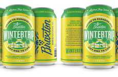 Fruity Travel-Inspired Beers - The Braxton Brewing Co. Wintertrip Beer is Infused with Pineapple