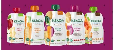Palate-Expanding Baby Foods - The Kekoa Foods Baby Foods are Made with Nourishing Ingredients