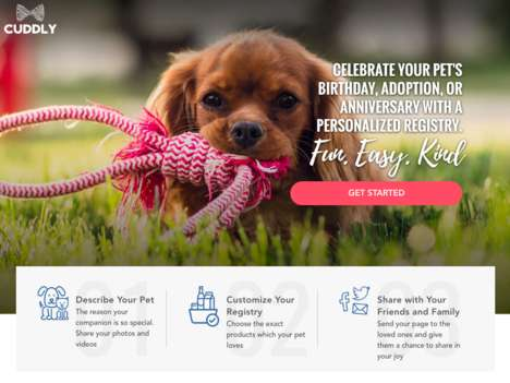 "Pet Gift Registries - CUDDLY is a Pet Registry for Celebrations and ""Just Because"" Events"