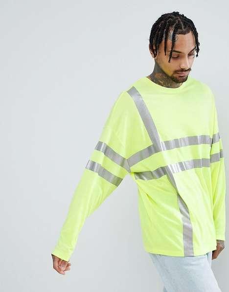 Comfy Oversized Reflective Shirts
