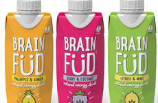 Sustainable Energy Drink Packaging - The Brain Füd Natural Energy Drinks are Packed in Tetra Paks