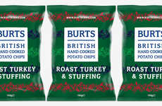 Festive Meal-Inspired Chips - The Burts Chips Roast Turkey & Stuffing Crisps Celebrate the Season