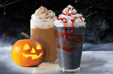 Charcoal-Colored Halloween Frappuccinos