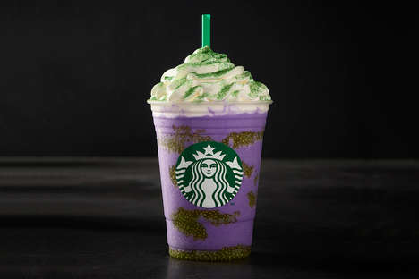 Witch-Themed Blended Beverages - Starbucks' Witch's Brew Frappuccino is a Purple-Clad