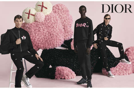 Pink-Accented High Fashion Campaigns