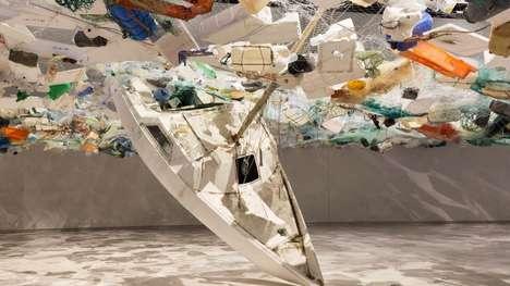 Overbearing Ocean Plastic Installations