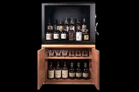 Liquor-Protecting Display Cases