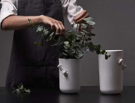 Naturalistic Post-Modern Vases