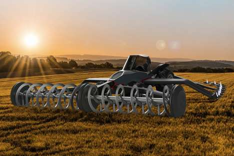 Arachnid-Inspired Farm Vehicles