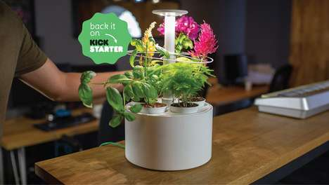 Tech-Savvy Mini Indoor Gardens