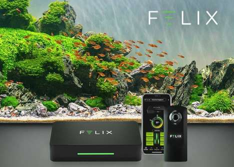 Connected Aquarium Computers - The 'FELIX' Smart Aquarium Controller Allows for Remote Adjustments