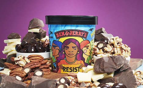 Social Justice Ice Creams - The Ben & Jerry's Pecan Resist Ice Cream Stands Against Oppression