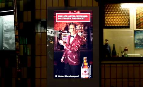 Women-Only Beer Advertising - Astra's Facial Recognition Billboard Can Detect the Sex of Viewers
