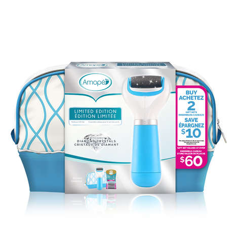 Pampering Pedicure Gift Sets - Amopé's Electronic PediPerfect Foot File Features Diamond Crystals