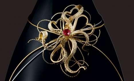 Diamond-Studded Champagne Bottles