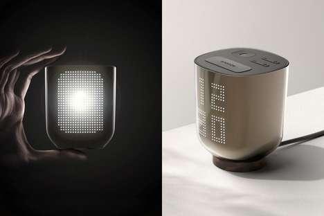 Flashlight-Integrated Alarm Clocks