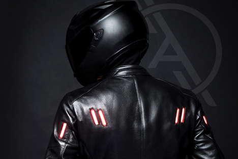 LED-Powered Motorcycle Jackets