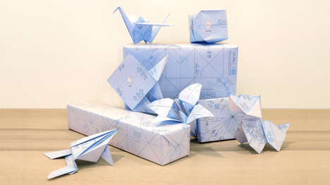 Interactive Origami Wrapping Papers