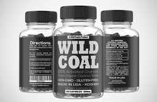 Charcoal Digestion Supplements - The Wild Foods Wild Coal Activated Charcoal Capsules are Organic