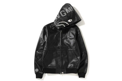 Luxe Leather Hooded Jackets