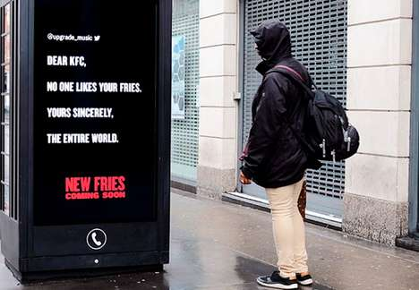Deceitfully Negative Advertising - KFC Announces New Fries with an Unconventional Advertising Method