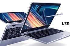 LTE-Enabled Convertible Laptops - The Samsung LTE Chromebook Plus is Lightweight and Efficient