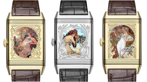 Fine Art-Inspired Timepieces - A Line of Alfons Mucha-Inspired Watches Showcase Intricate Enamel