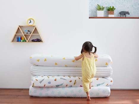 Bold Fruit Throw Pillows : crochet bananas