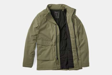Water-Resistant Travel Jackets - The Proof Field Jacket Was Inspired by Classic Military Attire