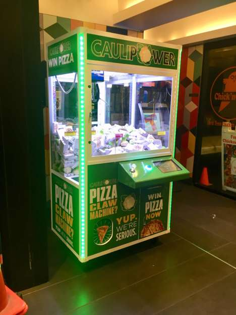 Pizza-Themed Claw Machines - The CAULIPOWER Claw Machine Gives Out Fun Branded Prizes