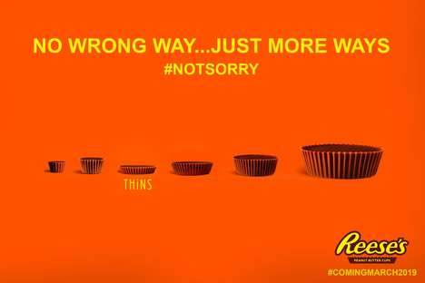 Shrunken Peanut Butter Cups - The New Reese's Thins are 40 Percent Thinner Than Regular Reese's