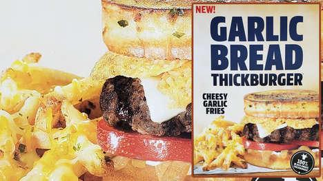 Garlic Bread Hamburger Buns