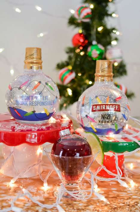 Vodka-Filled Christmas Tree Ornaments - Smirnoff's No.21 Holiday Ornaments are Filled with Vodka