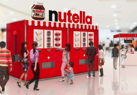 Breakfast-Dispensing Slot Machines - The Nutella Morning Slot Dispenses Nutella Toast Variations