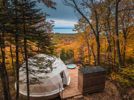Luxury Eco Camping Domes - These Domes Peek Out from Bourgeois/Lechasseur's Eco-Resort