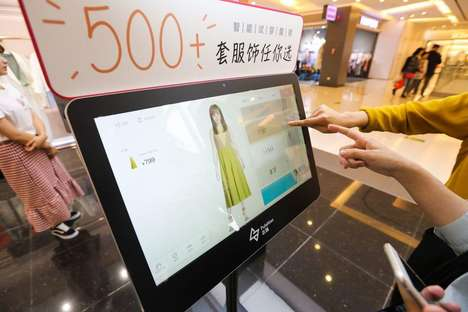 In-Store Try-On Touchscreens - China's 'Moda Polso' Saves Consumers the Hassle of Trying on Clothes