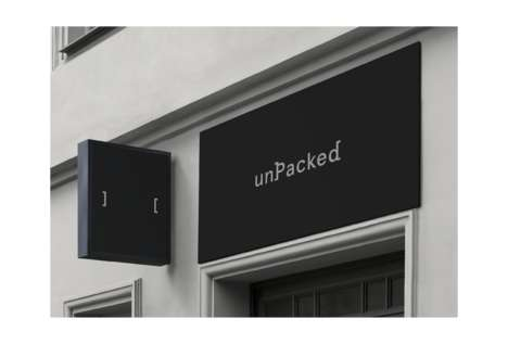 European Zero-Waste Market Branding - fagerström Produces a Minimalist Aesthetic for unPacked