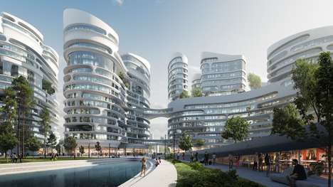 Reimagined Urban Neighborhoods - This Modern Moscow Suburb is Designed By Zaha Hadid Architects