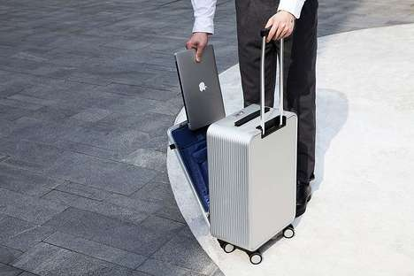 Fold-Out Workstation Suitcases